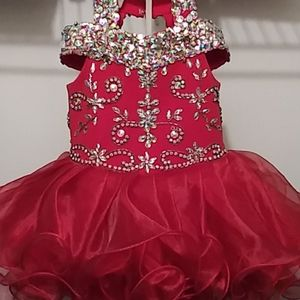 Other - Red pageant cupcake dress